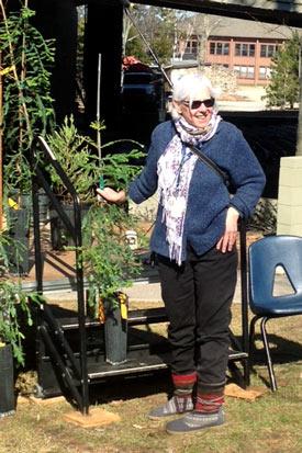 Mary Ellen Newport, PhD at the Planting Event