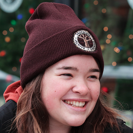 Front of the brown beanie